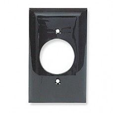NP720BK - Placa Nylon de pared para 1 contacto redondo diametro 40.6mm Negro