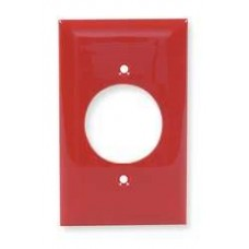 NP720R - Placa Nylon de pared para 1 contacto redondo diametro 40.6mm Rojo